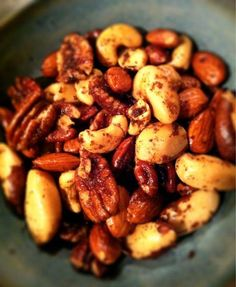 Neat idea for seasoning/roasting mixed nuts. Has Worcestershire sauce on it.