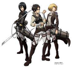 Mikasa, Eren & Armin