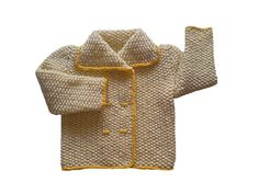 Handknit baby cardigan in yellow... by woolopia on Etsy, $27.00