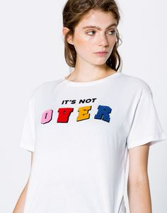 IT'S NOT OVER T-SHIRT - T-SHIRTS - WOMAN - PULL&BEAR United Kingdom