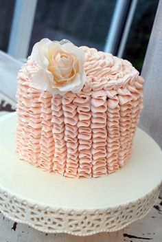 Pink frilly cake by Icing Bliss, via Flickr