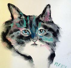 kattenkunst abstract schilderen collage fotografie