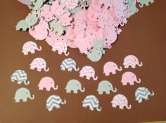 100 mild grey and pink chevron and strong elephant confetti- baby woman shower- elephant theme - http://www.babyshower-decorations.com/100-mild-grey-and-pink-chevron-and-strong-elephant-confetti-baby-woman-shower-elephant-theme.html