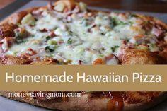 Homemade Hawaiian Pizza: Pineapple & BBQ- yum!