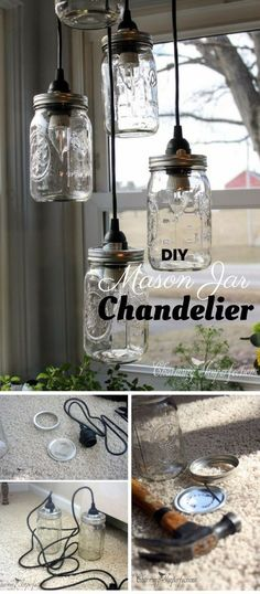 Check out the tutorial: #DIY Mason Jar Chandelier The Industry Standard Design
