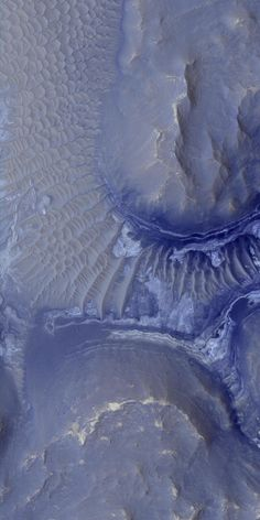 """The Noctis Labyrinthus region of Mars, the """"labyrinth of the night""""."""
