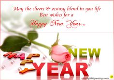 Dgreetings - Send this happy New Year greeting card to your dear ones. Happy New Year Greetings, New Year Greeting Cards, New Year Ecards, Quick Cards, E Cards, Electronic Cards, Ecards
