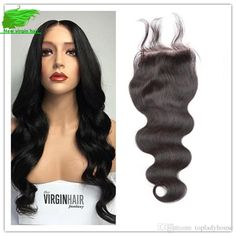 Unprossed Middle/Free/Three Part Lace Closure Brazilian Closure… Human Human, Lace Closure, 4x4, Wigs, Middle, Long Hair Styles, Free, Beauty, Long Hairstyle