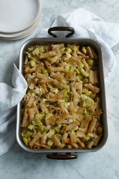 Hearty Wholewheat Pasta With Brussels Sprouts, Cheese and Potato