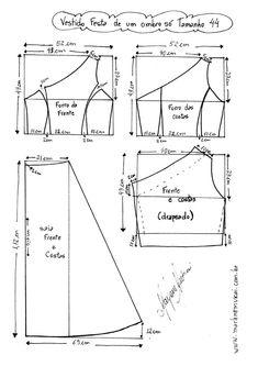 size 16 one shouldered dress pattern Frock Patterns, Dress Making Patterns, Sewing Patterns Free, Sewing Tutorials, Clothing Patterns, Pattern Sewing, Shirt Dress Pattern, Gown Pattern, Wrap Pattern