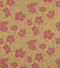 Home Decor Upholstery Fabric-Crypton Hibiscus Bloom-Berry
