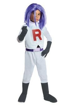 Do you feel the villain feel yet? Go get your James Team Rocket costume for boys and join the cosplay or Halloween fun - James Team Rocket costume for boys - $29.99 #PokemonGoTrainerCostumes #PokemonCostumesForKids
