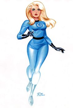The Invisible Woman by Bruce Timm via http://charactermodel.tumblr.com/