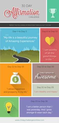 Positive Affirmations help us become more jolly, vibrant and optimistic. Take the 30 day affirmation challenge with me and share your journey with our readers