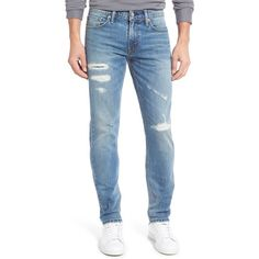 Men's Big & Tall Levi'S 511 Slim Fit Jeans ($80) ❤ liked on Polyvore featuring men's fashion, men's clothing, men's jeans, plus size, thundermood, mens torn jeans, mens slim cut jeans, mens destroyed jeans, levi mens jeans and mens ripped jeans