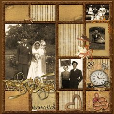 My Mom & Dad - Scrapbook.com (not really mine; the caption came with the picture!) Layout idea