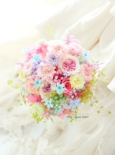 Funeral Flower Arrangements, Funeral Flowers, Pastel Bouquet, Flower Bouquet Wedding, Flowers Nature, Beautiful Flowers, June Flower, Rainbow Wedding, Birth Flowers