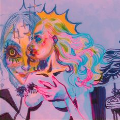 Pretty Art, Cute Art, Art Sketches, Art Drawings, Funky Art, Arte Horror, Art Hoe, Ap Art, Psychedelic Art