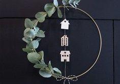 DIY door wreath Sostrene Green