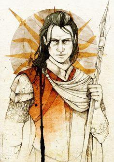 Oberyn Martell (Red Viper of Dorne), by Elia Mervi