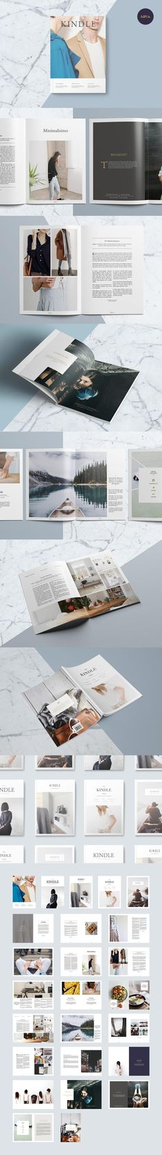 #magazine #design from Ally & Co. | DOWNLOAD: https://creativemarket.com/allyandco/654388-Kindle-Magazine?u=zsoltczigler