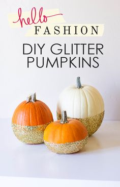 DIY Glitter Pumpkins