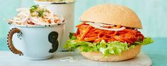 Celebrate National Vegetarian Week with these meat-free pulled carrot buns with courgette fries Asda Recipes, Veggie Recipes, Healthy Dinner Recipes, Vegetarian Recipes, Veggie Food, Vegan Meals, Healthy Food, Recipies, Yummy Food