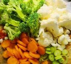 Katrine Stenhjem – Hjemmelaget fiskegrateng på lavkarbovis Broccoli, Chili, Vegetables, Food, Chile, Essen, Vegetable Recipes, Meals, Chilis
