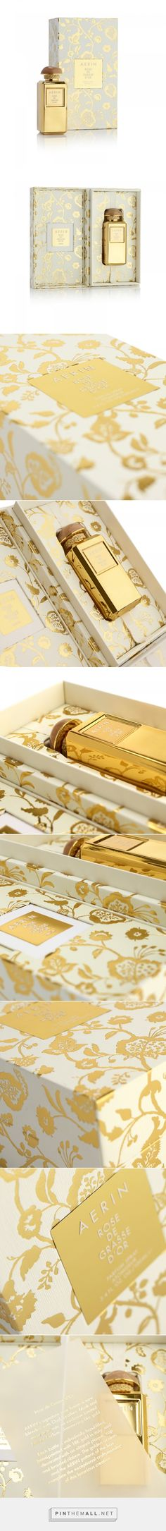 Aerin Rose de Glasse d'Or Fragrance - Packaging of the World - Creative Package Design Gallery - http://www.packagingoftheworld.com/2017/06/aerin-rose-de-glasse-dor-fragrance.html