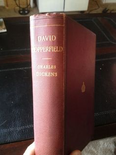c1890 David Copperfield Charles Dickens + Rare Old Stamp (Antique Vintage Old)