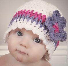 Crochet Flowers For Beginners   Beginners Candy Stripe Cloche and Flower Crochet Pattern (411). $3.99 ...