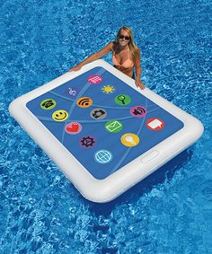 Look at this Tablet Double Pool Float on #zulily today!