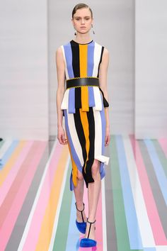 Easter colors, geometric, modern, ladylike. LOVE THIS so much! Ferragamo! Fall 2016 Tailored Sport