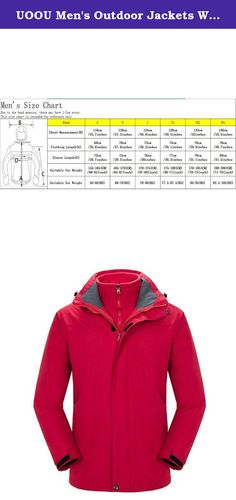 UOOU Men's Outdoor Jackets Waterproof Windproof Fleece Thickened Ski Jacket Red. Outstanding Design The windproof cap, 3D full view, prevent the rain on the face. Three dimensional drawing rope, free to adjust the width of the hat. Under the armpit ventilation holes, movement to help breathe. Cuff magic stick, can adjust the size of the cuffs, to prevent the cold wind. Cuff magic stick, can adjust the size of the cuffs, to prevent the cold wind. Adjustable drawstring hem, firm and…
