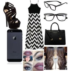 Untitled #43 by flinch552 on Polyvore featuring polyvore fashion style Red Circle Michael Kors Ray-Ban