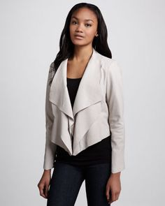 Zura Draped Leather Jacket by La Marque at Neiman Marcus.