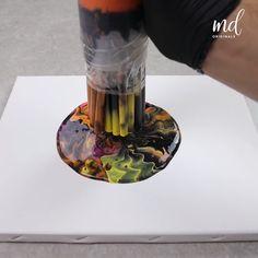 Painting Techniques Canvas, Acrylic Pouring Techniques, Canvas Painting Tutorials, Acrylic Pouring Art, Diy Canvas Art, Acrylic Art, Diy Painting, Resin Art, Diy Art