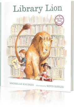 "Library Lion by Michelle Knudsen. This is one of my new very favorite books. A wonderful story and beautiful illustrations. ""There aren't any rules about lions in the library. It turns out, though, that the lion seems very well suited for the library. Library Rules, Library Lesson Plans, Library Skills, Library Lessons, Library Books, My Books, Local Library, Library Ideas, Class Library"