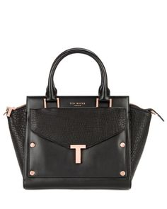 Ted Baker Layally T tote and clutch bag (black)