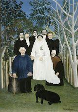The Wedding Party, Henri Rousseau, dit le Douanier, about 1905 Musee de l'Orangerie Henri Rousseau Paintings, Art Français, Google Art Project, Arte Dachshund, Avant Garde Artists, Illustration, Post Impressionism, Art Database, Naive Art