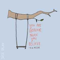 Yes. You. Are. :: Braver Print by susatalan on Etsy