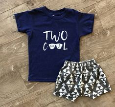 Boys Two Cool Shirt O Year Old 2nd Birthday Second