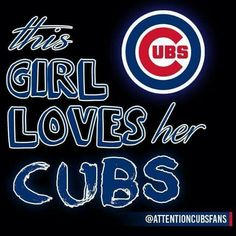 This girl loves her Cubs Chicago Cubs Fans, Chicago Cubs World Series, Chicago Cubs Baseball, Tigers Baseball, Baseball Mom, Cubs Team, Cubs Players, Cubs Win, Chicgo Cubs