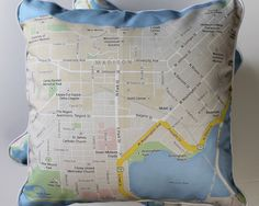 Custom Map Cushions