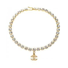 VINTAGE CHANEL RHINESTONE CHOKER NECKLACE WITH CC ❤ liked on Polyvore featuring jewelry, necklaces, chanel, accessories, chokers, choker jewellery, rhinestone choker necklace, rhinestone necklace, choker jewelry and rhinestone jewelry