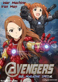 Idolmaster x Avengers, Iori & Yayoi, by たく(taku)