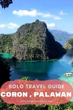 Budget travel guide to Coron, Palawan, Philippines, for solo travelers. Includes a sample itinerary to Coron for 5 days #budgetbeachtravel