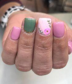 Awesome Spring Nails for Short Nails - Beauty Wowzy Nail Swag, Get Nails, Hair And Nails, Shellac, Nail Polish, French Tip Nails, French Pedicure, Fabulous Nails, Flower Nails