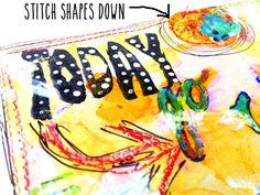 raemissigman - Blog - tutorials: plastic fused canvas = pretty collagepieces