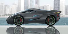 VIRUS Concept car on Lake Michigan